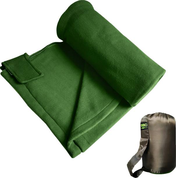 RHINOKraft Green Fleece Sleeping Liner for Night Outs Sleeping Bag