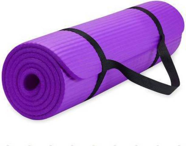GROVERTEXOFAB ANTI-SKID LIGHT WEIGHT PURPLE WITH STRAP 5 mm Yoga Mat