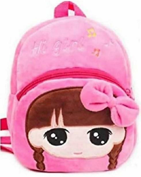 Pocket Whole Embroidered Soft HI GIRL school Bag special for kids  - 30 cm