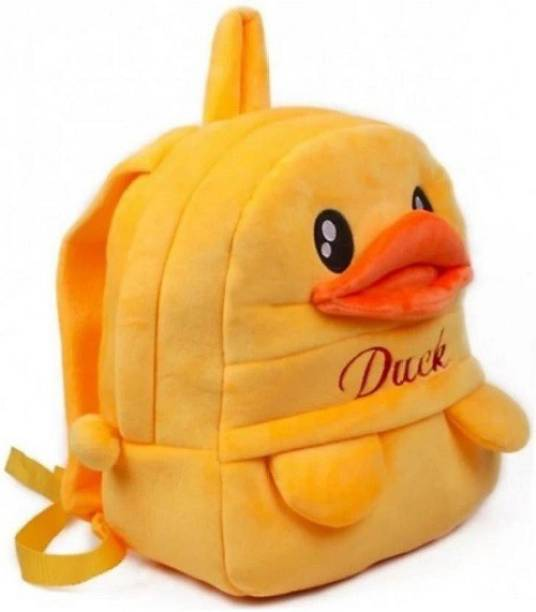 Pocket Whole Embroidered Soft Duck school Bag special for kids  - 30 cm