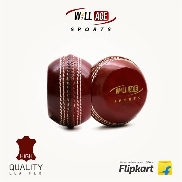 WILLAGE Cricket Leather Practice Ball   Flat Cricket Ball   Swing Ball Cricket Leather Ball