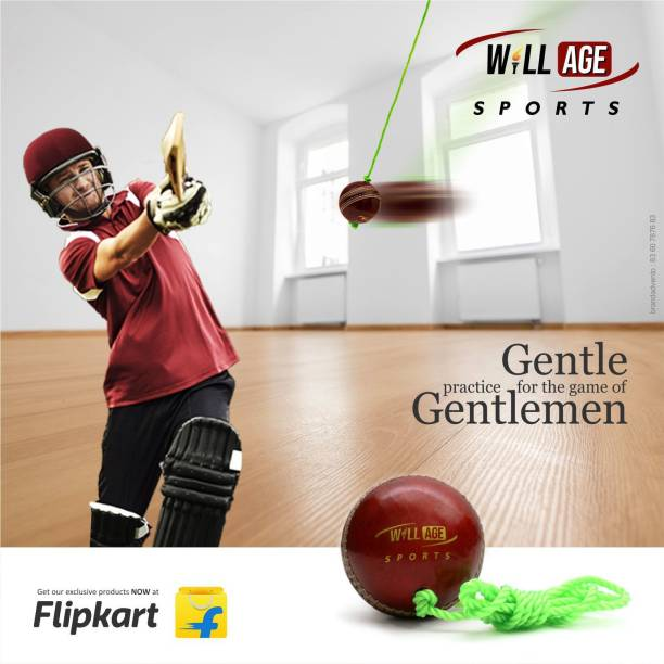 WILLAGE Leather Cricket Ball For Practice | Hanging Cricket ball Pack of 1 Cricket Leather Ball