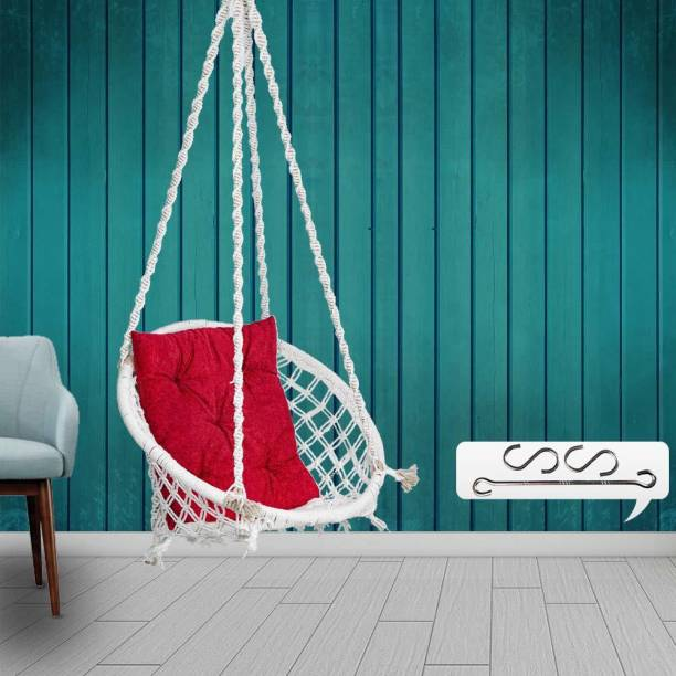 Patiofy Hanging Swing with Square Cushion Cotton Large Swing