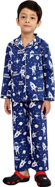 Ninos Dreams Kids Nightwear Boys Graphic Print Pure Cotton