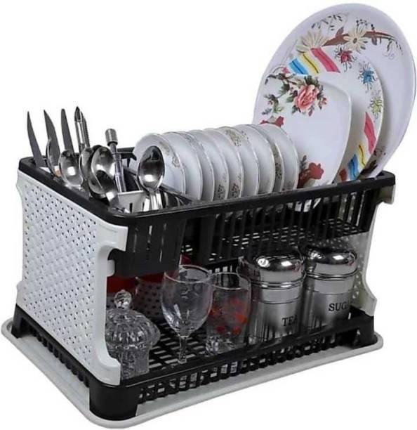 Mahadev Enterprise Kitchen Organiser Rack Plastic Kitchen Rack (Black) Utensil Kitchen Rack (Plastic) Utensil Kitchen Rack