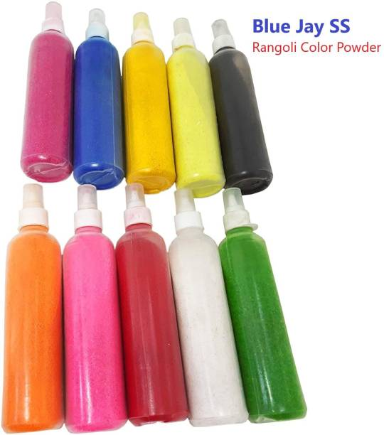 Blue jay Pack of 10 Rangoli Powder