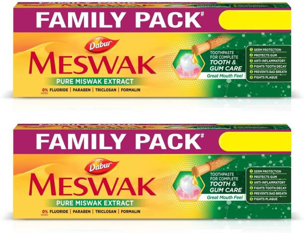 Dabur Meswak Indias No-1 Fluoride Free Toothpaste | Herbal paste made from pure extract of rare Miswak herb Toothpaste