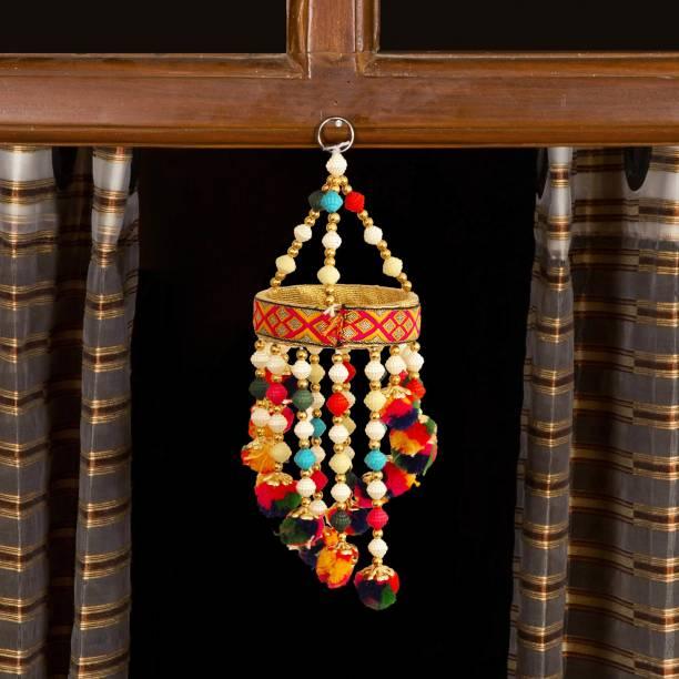 TIED RIBBONS Decorative Latkan Toran Diwali Decoration Bandhanwar for Door/wall Hanging Toran