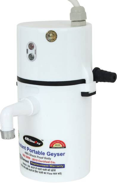 UltinoPro 1 L Instant Water Geyser (Indias ULT-ino Pro Instant Electric Water Geyser    ABS Body- Shock Proof    Electric Saving   24 Month replacement Warranty (White), White)