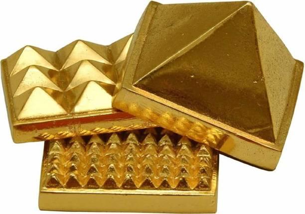 Natural Life Care Vastu Pyramid Yantra in Brass for Vastu Correction Brass Yantra