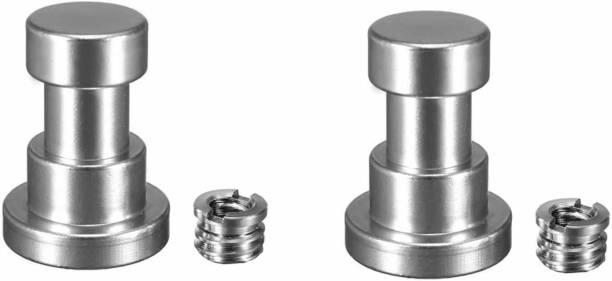 "SHOPEE Nut & Bolt Set Branded 2P Set Tripod Screw Adapter with 1/4"" to 3/8"" Screw for Camera Flash Bracket Light Stand Tripod Monopod"