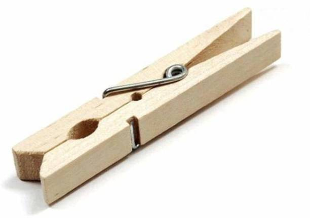 Ivaan Wooden Clips Bamboo Cloth Pegs Set Of 20 Clips Wooden Cloth Clips