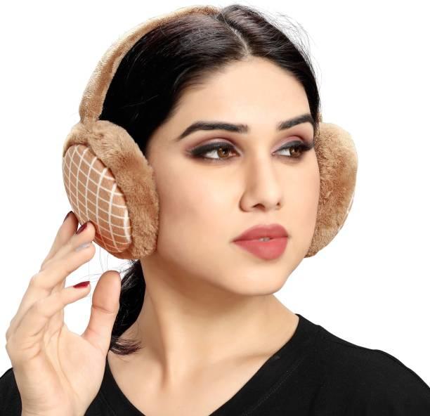 Myy Ear Muffs Checks (Brown) Ear Muff
