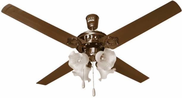 HANS LIGHTING Ceiling Fan With High Led Light 1200 mm Ultra High Speed 4 Blade Ceiling Fan