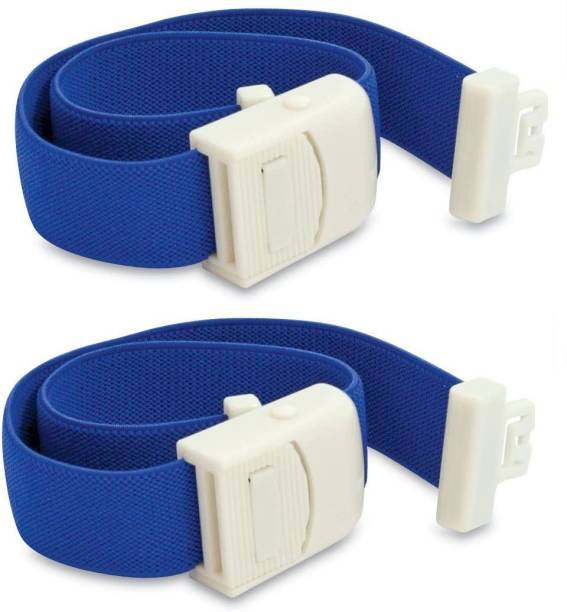 HealthEmate Delux Elastic Arm Tourniquet band with Plastic Buckle (Reusable) pack of 2 Fitness Band