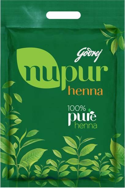 Godrej Nupur 100% Pure Henna (Mehendi) - Natural Conditioning and Anti-Dandruff Hair Colour Solution , Leafy Green