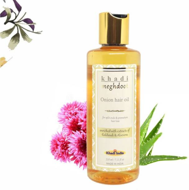 KHADI MEGHDOOT Onion Hair Oil for Split Ends & Premature Hair Loss Hair Oil