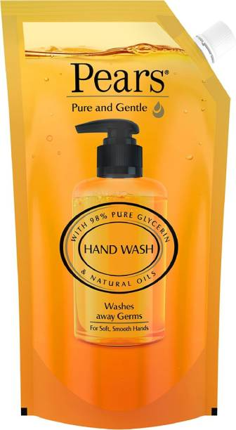 Pears Moisturising Handwash With 98% Pure Glycerine - For Soft Protected Hands Hand Wash Refill Pouch