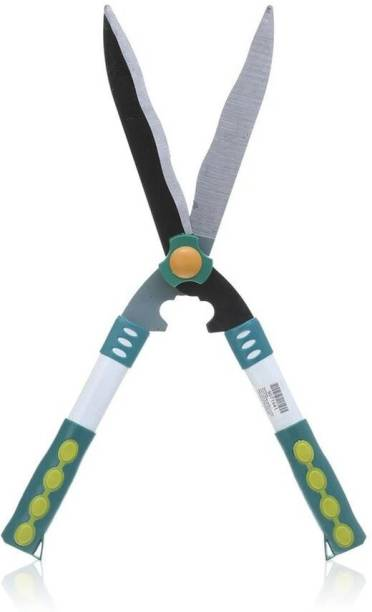 bosig bom0413 Gardening Cutting Tools - Ergonomic TPR Handle Hedge Shears, Bush Clipper | Hedge Shear Wooden Handle Lawn or Grass Cutter Hedge Shear (16 cm) Hedge Shear