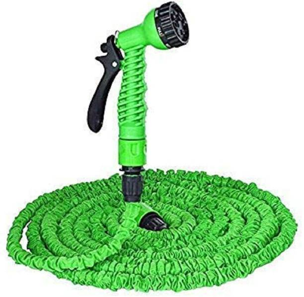 PAVITYAKSH 50 Ft Expandable Hose Pipe Nozzle for Garden Wash Car Bike with Spray Gun and 7 Adjustable Modes Magic Flexible Water Hose Plastic Hoses Pipe with Spray Gun to Watering Washing Cars 50 Ft Expandable Hose Pipe Nozzle for Garden Wash Car Bike with Spray Gun and 7 Adjustable Modes Magic Flexible Water Hose Plastic Hoses Pipe with Spray Gun to Watering Washing Cars Hose Pipe