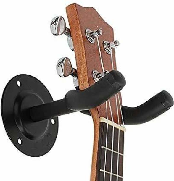 DawnRays Guitar Stand Wall Mount,Metal Body Guitar Display,Hanger,Holder, Hook,Stand for Bass ,Electric, Acoustic Guitar, Mandolin, Banjo, etc. With Fitting Accessories (black) Hanger Hanger