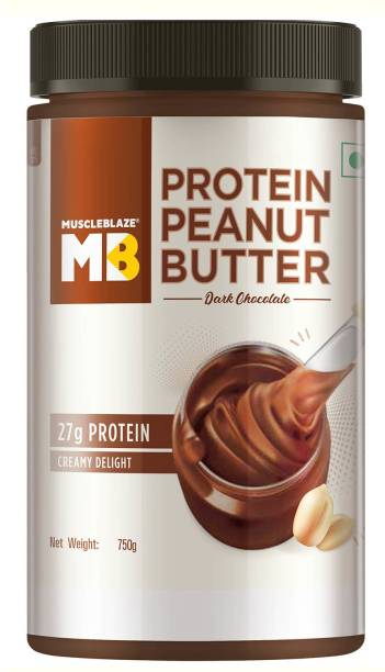 MuscleBlaze High Protein Peanut Butter (Dark Chocolate) 750 g