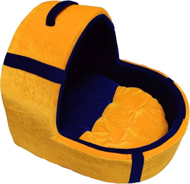 VetKart Cute Tent Pet Bed with Reversible Cushion for Dogs/Cats Soft and Spongy and Easy to Organize S Pet Bed
