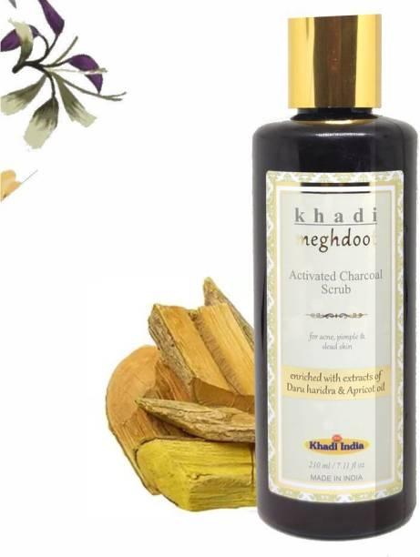 KHADI MEGHDOOT Activated Charcoal Scrub for Acne, Pimples & Dead Skin Scrub