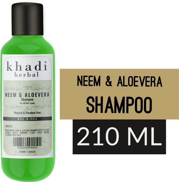 Khadi Herbal Neem Aloevera Shampoo
