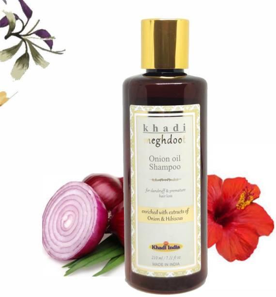 KHADI MEGHDOOT Onion Oil Shampoo for Dandruff & Premature Hair Loss