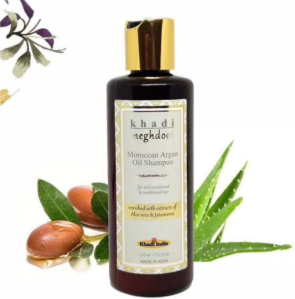 KHADI MEGHDOOT Moroccan Argan Oil Shampoo for Moisturised & Conditioned Hair