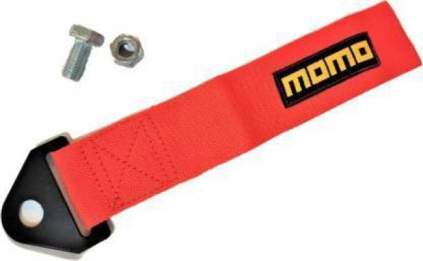 Auto MT RED MOMO TOW BELT & STRAP || MOMO Premium RED Universal Front & Rear Tow Strap/Tow Hook Ribbon 0.23 m Towing Cable 0.2 m Towing Cable 0.2 m Towing Cable 0.2 m Towing Cable
