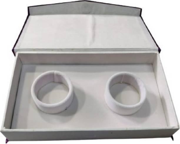 DOOR STEP SHOPPING PURPLE BANGLE BOX DOUBLE Storage Box, Chain Box Vanity Box
