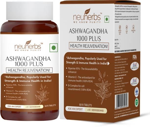Neuherbs Ashwagandha 1000 Plus – Pure Herbs Extract for General wellness