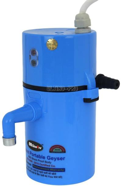 UltinoPro 1 L Instant Water Geyser (Indias ULT-ino Pro Instant Electric Water Geyser    ABS Body- Shock Proof    Electric Saving   24 Month replacement Warranty (Blue), Blue)
