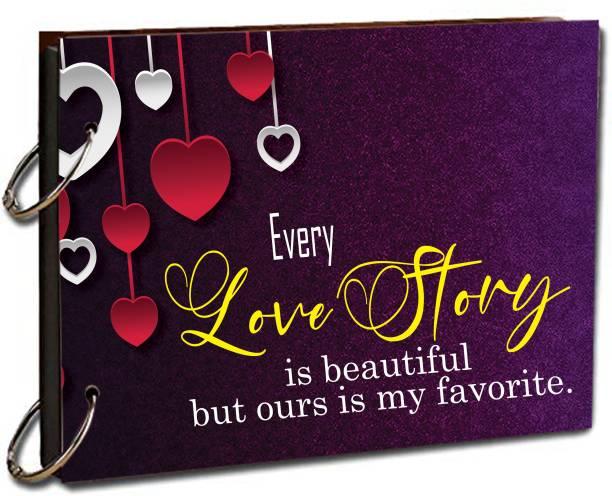 "paper pebbles Every Life Story Scrap Book for Love Moment 20 Black Color Paper Size "" 22x16 "" cm Album"