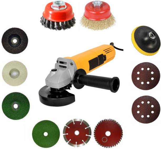 INDITRUST Multi Use Powerful Grinder With Multi Usable Combo Angle Grinder (100 mm Wheel Diameter) Angle Grinder