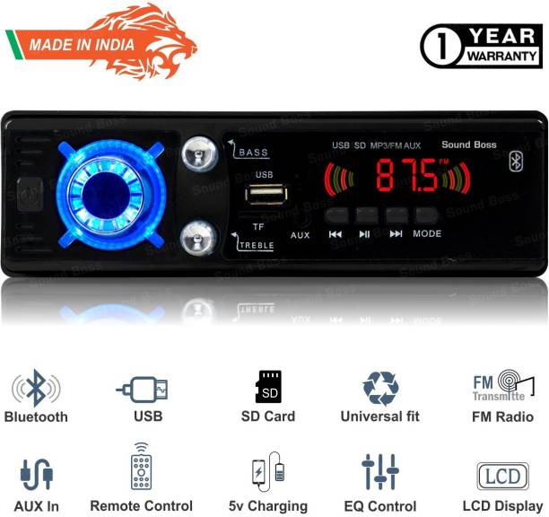 Sound Boss MP3/BLUETOOTH/USB/SD/AUX/FM Car Stereo