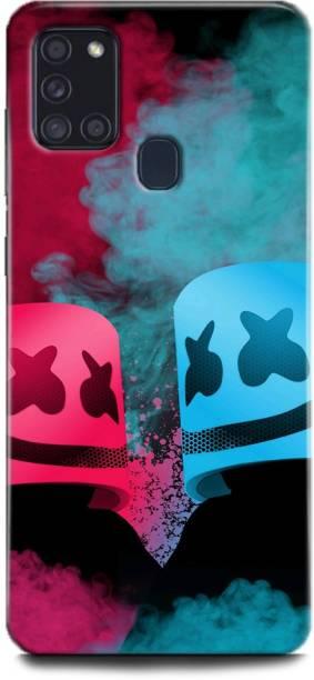 WallCraft Back Cover for Samsung Galaxy A21s MARSHMELLO, DJ, EDM, MUSIC, SMILEY, FUNNY