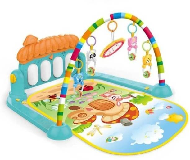 IM ENTERPRISE Kick and Play Musical Keyboard Mat Piano Baby Gym and Fitness Rack (MULTI COLOUR)