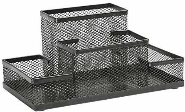 GAURINANDAN 4 Compartments steel Pen Holder