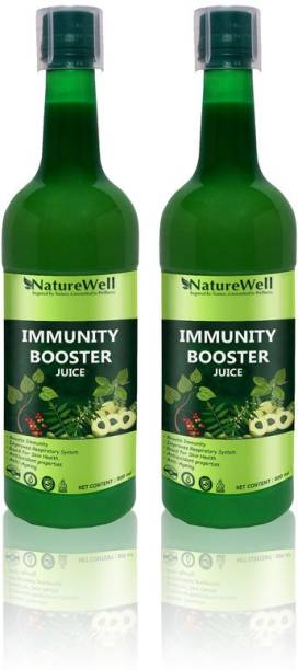 Naturewell IMMUNITY BOOSTER Juice for Building Immunity and Digestion Booster Contains GILOY TULSI PAPITA (PACK OF 2)