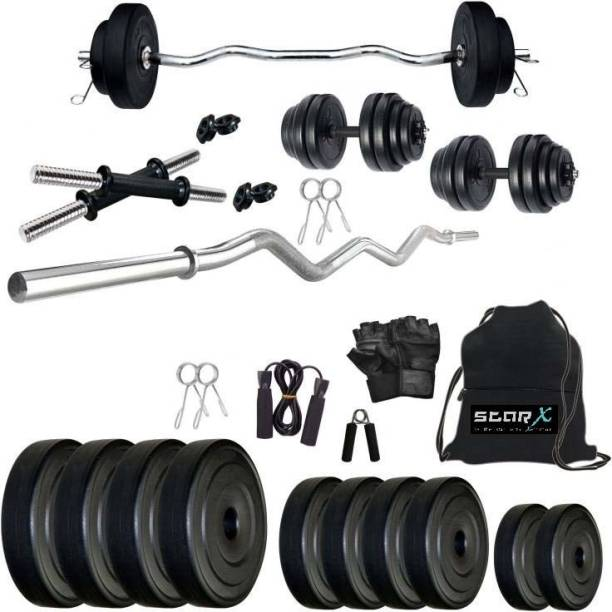 Star X 50 kg 50kg PVC with 3ft Rod and Accessories Home Gym Combo