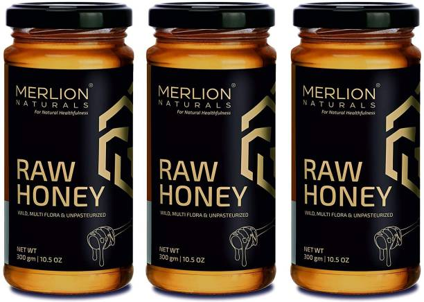 Merlion Naturals Raw Honey (Wild / Forest, Multiflora, Unprocessed, Unpasteurized, No Preservatives)