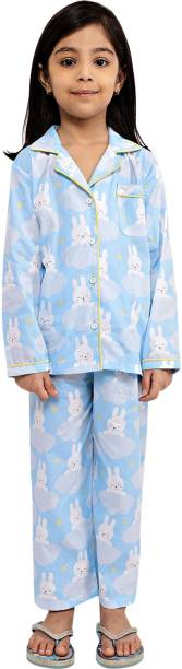 Ninos Dreams Kids Nightwear Boys & Girls Characters, Graphic Print Cotton Viscose Blend
