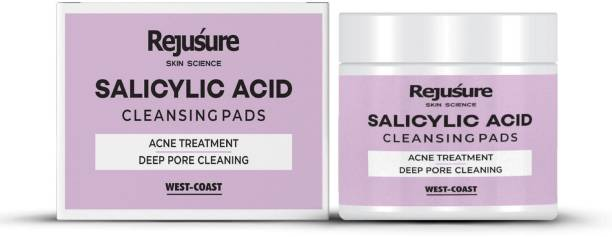 Rejusure Salicylic Acid Cleansing Pads - Acne Treatment Deep Pore Cleaning – 50 Pads Makeup Remover