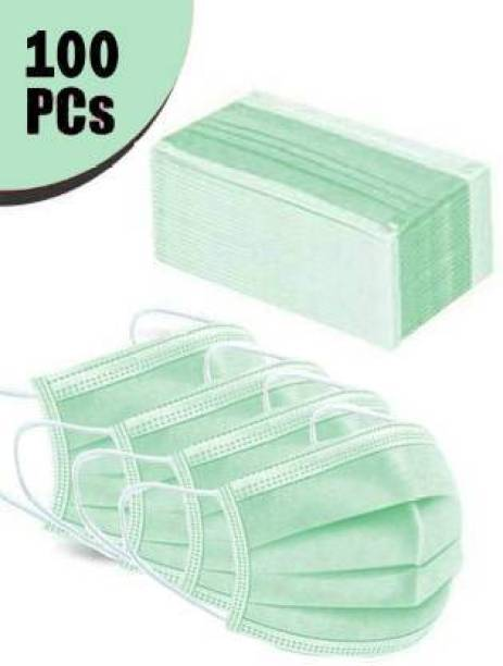 Unific 100 Pcs 3PLY / 3 LAYER SURGICAL MASK WITH NOSEPIN EAR LOOP DISPOSABLE USE AND THROW PHARMACEUTICAL FACE MASK PACK OF 100 SURGICAL 3PLY MASK Water Resistant Surgical Mask With Melt Blown Fabric Layer