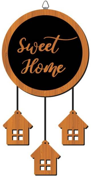 P Arts Wooden Sweet Home Name Plate