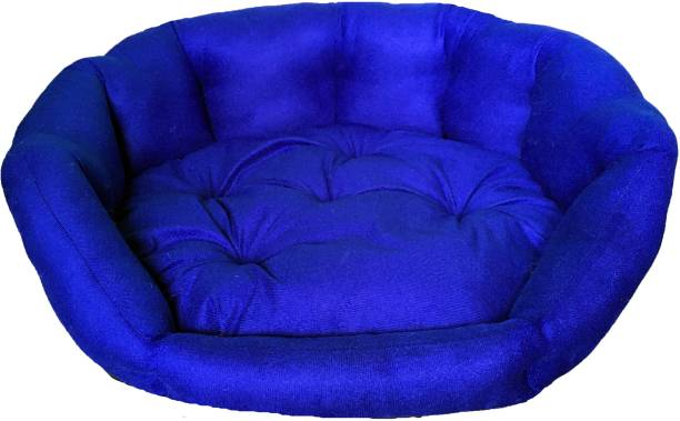 VetKart Soft Spongy Rounded Sofa Pet Bed with Reversible Cushion for Dogs and Cats, Head and Limb Support M Pet Bed