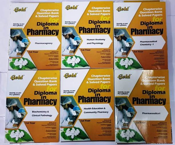 Combo Of Six Books Diploma In Pharmacy